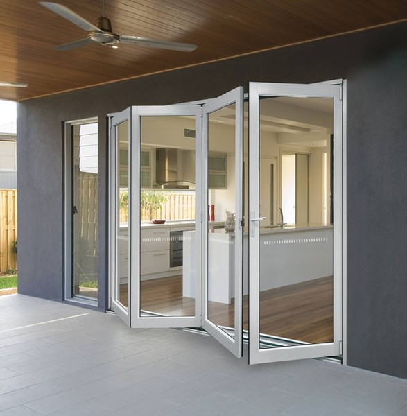 Folding stack away doors starlite aluminium Folding window